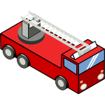 Fire emergency truck vector image