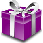 Purple present vector