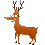 Rudolf The ReinDeer Vector Image