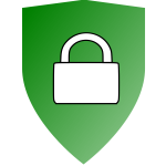 Secured and locked shield