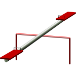 Vector image of playground see saw