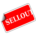 Sellout vector sticker