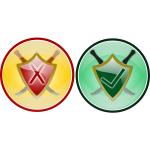 Security icon set vector image
