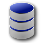 Vector image of blue and gray database symbol