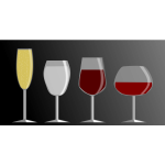 Vector graphics of icons for four different cocktails