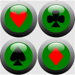 Vector image of web ready poker buttons