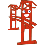 Cute San Francisco Golden Gate bridge vector image