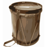 Vector image of drum