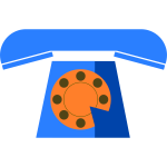 Blue phone vector icon