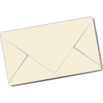 Sealed envelope vector clip art
