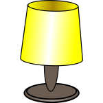 Vector image of a yellow lamp