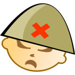 Vector illustration of soldier with helmet