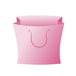 Pink bag icon