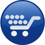 Shopping cart vector icon image
