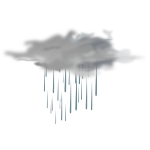 Vector illustration of weather forecast color symbol for showers