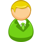 Architetto remix - Green blond man icon