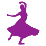 Purple flamenco dancer
