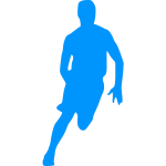 Basketball player outline silhouette