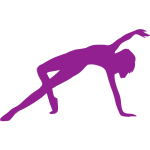 Purple dancing icon