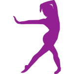 Purple exercise icon