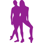 Purple dancing couple