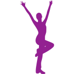 Jumping dancer silhouette