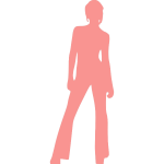 Girl in trousers