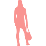 Pink lady with bag