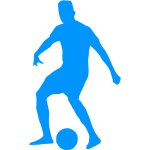 Blue soccer player