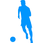 Football player dribbling