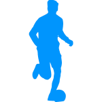 Silhouette of a footballer