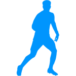 Vector image of a footballer