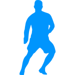 Goalkeeper blue silhouette