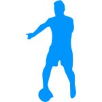 Blue football player icon