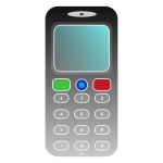 Simple cell phone vector drawing