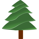 Simple evergreen vector image