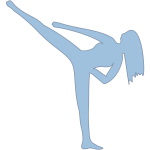 Vector image of female martial artist doing a kick