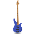 Simple bass guitar with four strings vector illustration