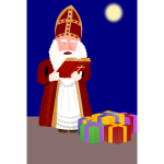 Sinterklaas with presents vector image