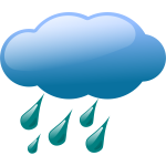 Vector image of weather forecast color symbol for rainy sky