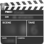 Movie action clapper board vector clip art
