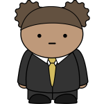 Cartoon boy in suit