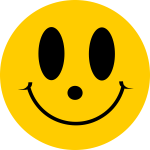 Simple flat smiley face vector image