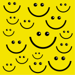 Smiley faces background vector image