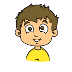 Smiling face of a child vector drawing