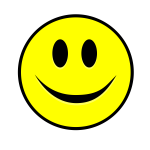 smiling smiley yellow simple