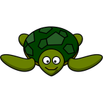 Vector image of smiling turtle