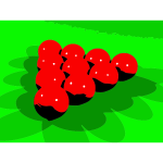 Red snooker balls vector clip art