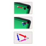 Pool table momentum conservation vector image
