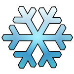 Vector illustration of shaded blue snowflake
